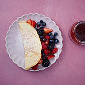 A berry pancake