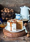 Karamell-Walnuss-Kuchen
