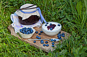 Yogurt with home-made blueberry-vanilla jam