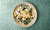 Vitamin-rich winter vegetable curry with kale and coconut