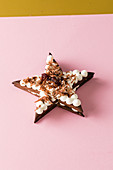 A small star-shaped cake