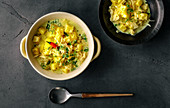 Sauerkraut curry with pineapple and coconut milk