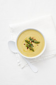 Cream of asparagus soup with chili
