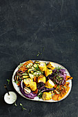 Mexican charred vegetable salad
