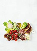 Greek lamb salad platter