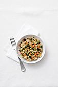 Quinoa with vegetable ragout