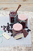 Redcurrant jam with dark chocolate