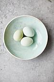 Pastel-coloured eggs