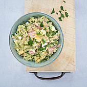 Tuna fish cream with avocado and egg