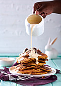 Carrot-cake flapjacks with caramelised walnuts and buttermilk drizzle