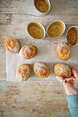 Coconut and apricot friands
