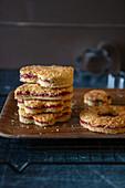 Shortbread with jam