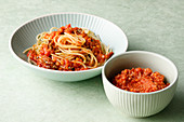 Vegetable bolognese for mother and baby