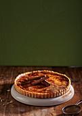 Creme brulee tart with cinnamon