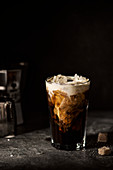 Iced coffee with cream