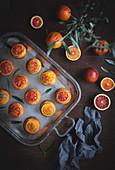 Blood Orange Upside Down Cupcakes