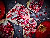 A split pomegranate (close-up)