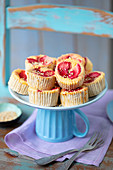 Cream cheese mini fit cheesecakes with strawberries
