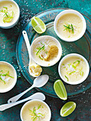 Lime and Coconut Custard Cups