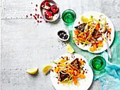 Crisp-Skin Barramundi With Mandarin Salsa