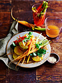 Papaya and Pickled Carrot Salad