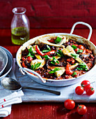 Vegetable Black Rice Paella