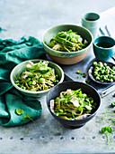 Edamame and Wasabi Pea Soba Noodle Salad