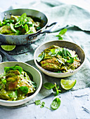 Green Masala Chicken Curry