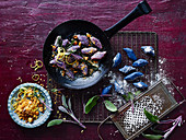 Purple Gnocchi with Brown Butter and Hazlenut Pangrattato