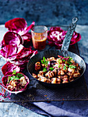 Grilled Squid and Radicchio with Kalamata Dressing