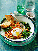 Beans with Poached Eggs