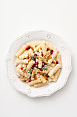 Tortiglioni with a walnut and pear sauce