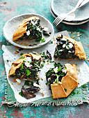 Silver Beet and Mushroom Tart