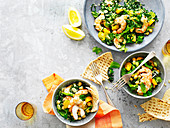 Prawn, Cavolo Nero and Chickpea Tabbouleh