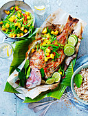 Thai Coconut Snapper with Mango