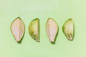 White cabbage cut into quarters