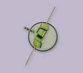A glass of cucumber lassi