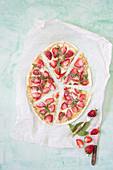 Flammkuchen with strawberries