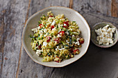 Bulgur salad with kefir
