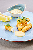 Fish fingers with mayonnaise