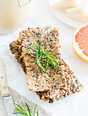 Gluten-free crunchy seed flat bread
