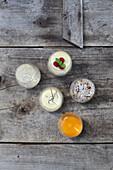 Variations of Bavarian cream