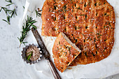 Low carb focaccia with rosemary