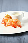 Scampi with chili and ginger