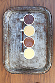 Variations of chocolate mousse