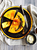 Whole Orange Semolina Cake with Rosemary Syrup (Gluten-Free )