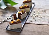 Vegan Earl Gray chocolate bars with white chocolate and dark bitter ganache
