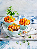 Beef and Vegetable Pot Pies with Kumara Topping