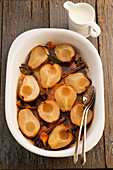 Pears roasted with honey and warm spices