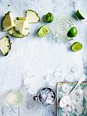 Ingredients for Pina Colada Smoothie